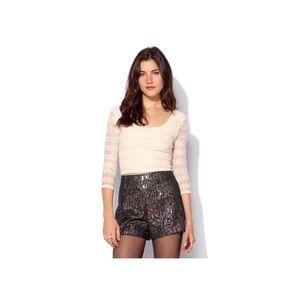 [UO] Ecote • Metallic Dressy Shorts